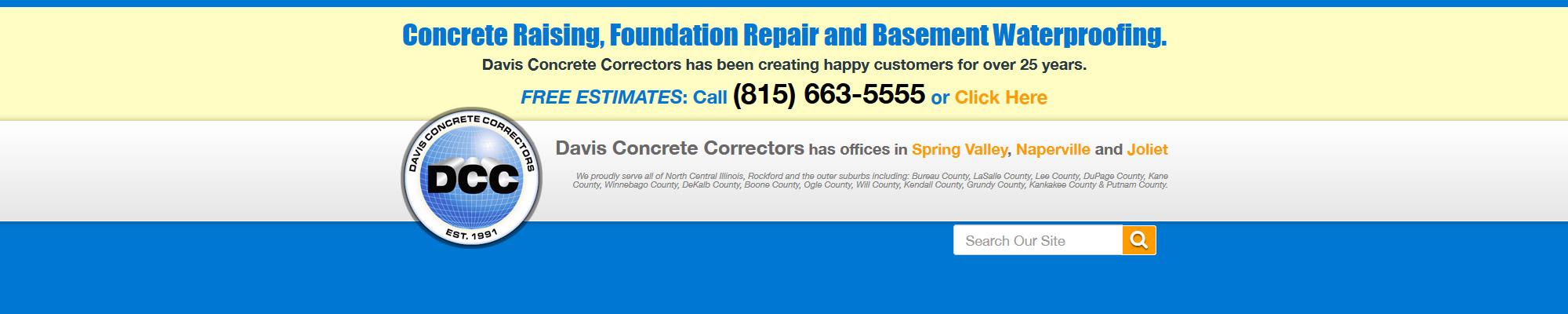 Davis Concrete Repair Header