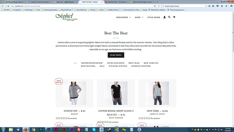 Maximizing Shopify: Jophiel - New Collection Page