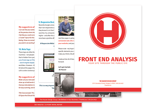 Front End Website Analysis