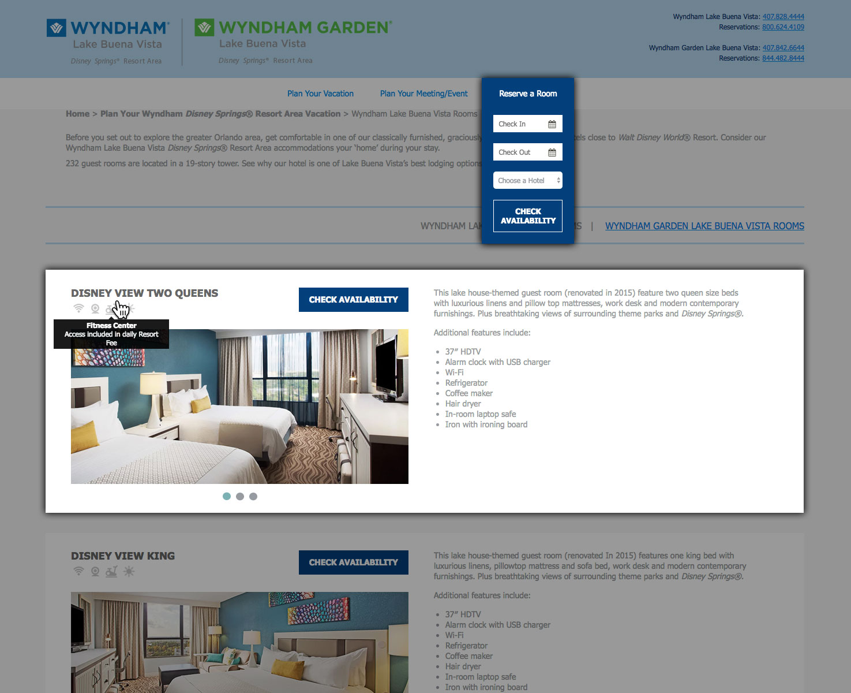 Wyndham Lake Buena Vista Room Reservation