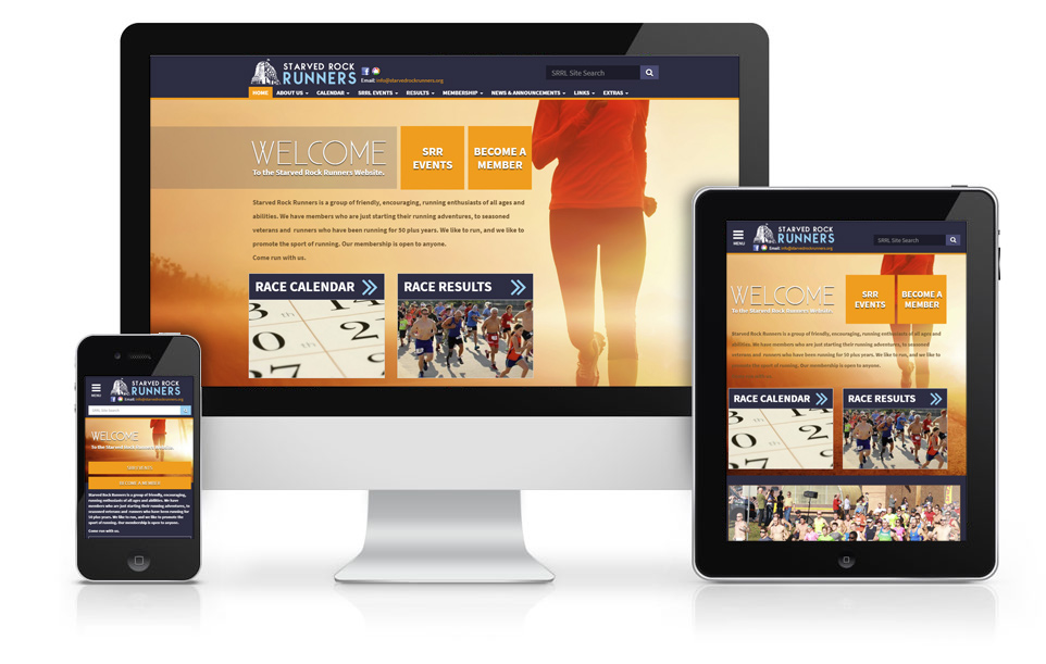 Responsive Website Design Starved Rock Runners