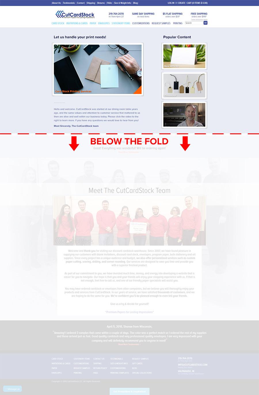 Shopify Homepage Edits Heatmapping